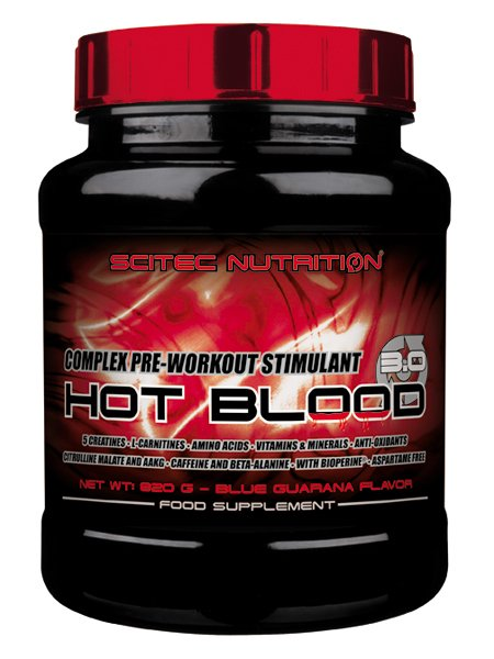 Hot Blood 3.0 - Scitec Nutrition 820 g Guarana