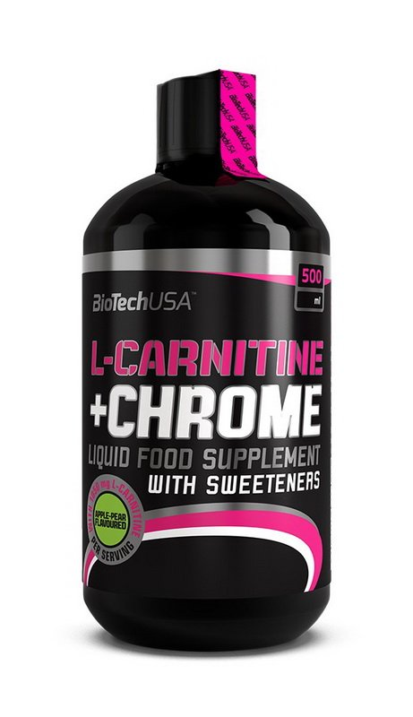 L-Carnitine 35000 mg+Chrome 5mg - Biotech USA 500 ml Pomaranč