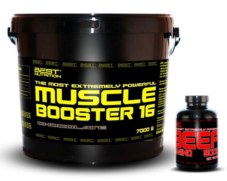 Muscle Booster + BEEF Amino Zadarmo - Best Nutrition 7,0 kg + 250 tbl. Banán