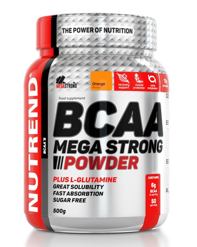BCAA Mega Strong Powder - Nutrend 500 g Cherry