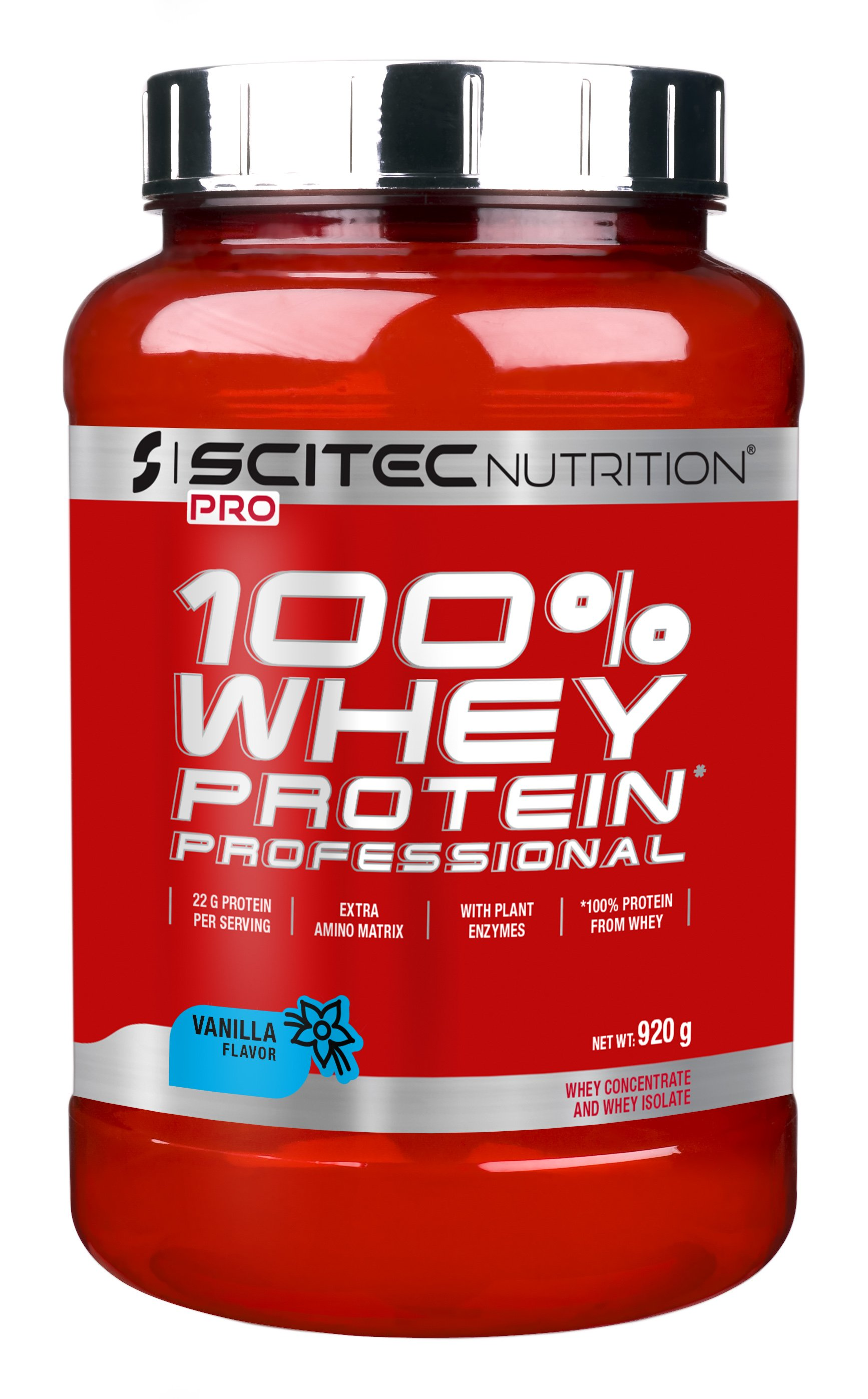 100% Whey Protein Professional - Scitec Nutrition 920 g Vanilka