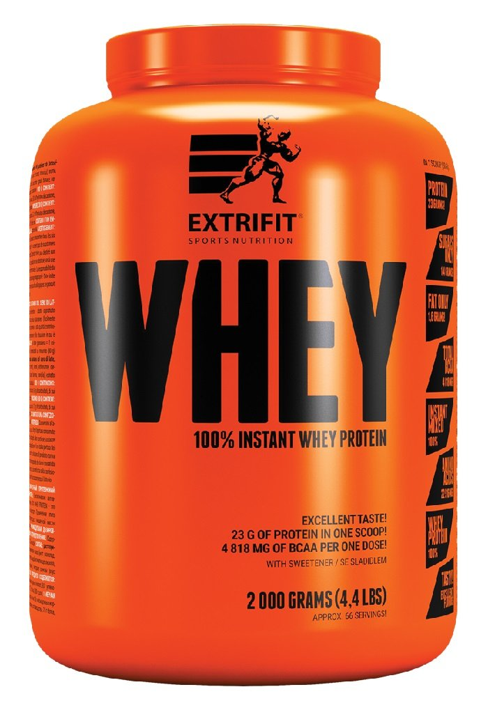 100% Instant Whey Protein - Extrifit 2000 g Jahoda