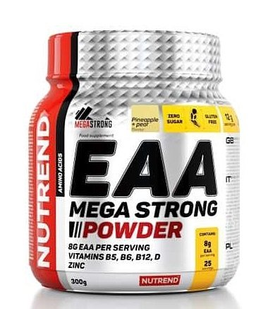 EAA Mega Strong Powder - Nutrend 300 g Pineapple+Pear