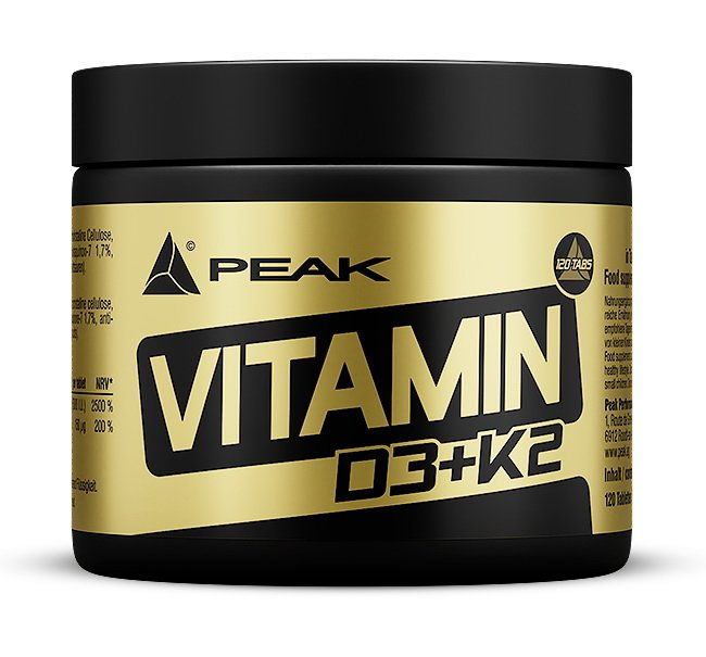 Vitamin D3+K2 - Peak Performance 120 tbl.