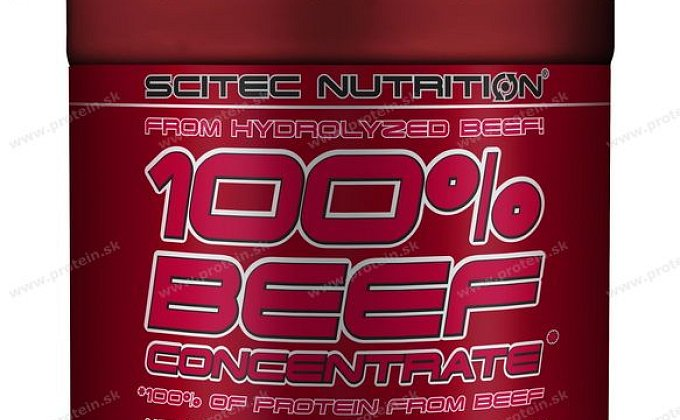 Testujeme proteín 100% BEEF Concentrate od Scitec Nutrition