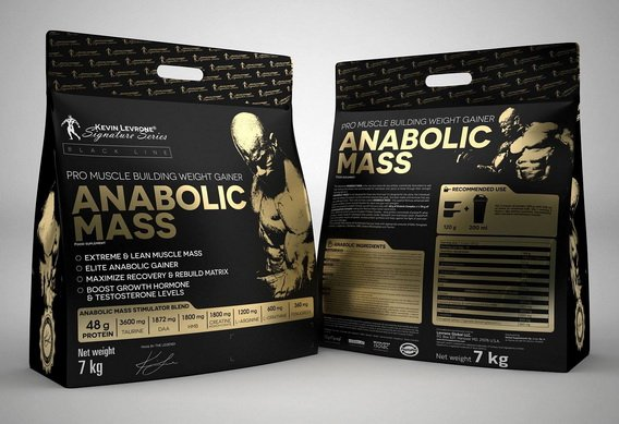 anabolic mass pro muscle building weight gainer